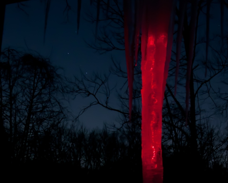 Laser red icicle