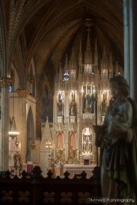 The alter of Sweetest Heart of Mary Church